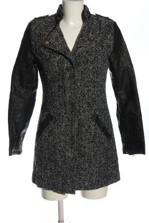 Atmosphere Krótki płaszcz czarny Melanżowy W stylu casual