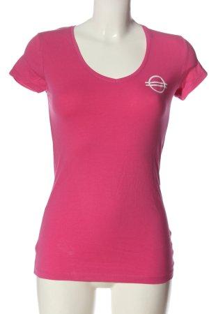 Atmosphere T-Shirt pink-weiß Schriftzug gedruckt Casual-Look
