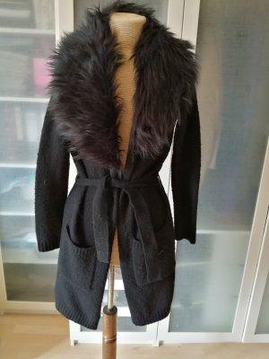 Atmosphere Knitted Coat black wool