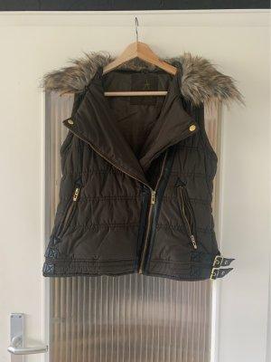 Atmosphere Fake Fur Vest multicolored