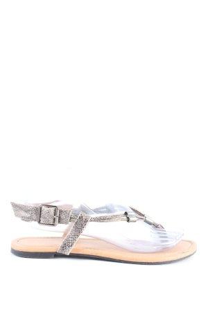 Atmosphere Sandały korkowe  jasnoszary-w kolorze białej wełny W stylu casual