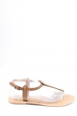 Atmosphere Sandalo toe-post marrone stile casual
