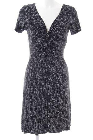 Ato-Berlin Jerseykleid schwarz-weiß Punktemuster Casual-Look