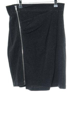 Ato-Berlin Mini rok zwart gestippeld casual uitstraling