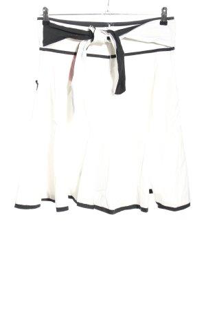 ATO Minirock weiß-schwarz Casual-Look