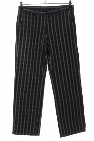 ATO Stoffen broek geruite print casual uitstraling