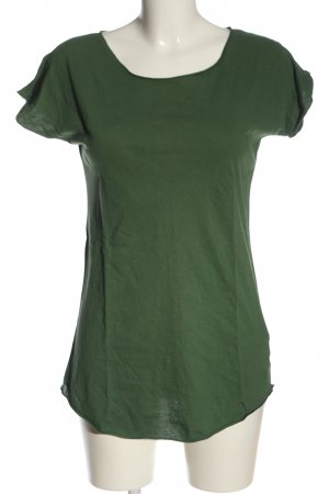 ATO T-shirt khaki W stylu casual