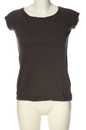 ATO T-shirt bruin kabel steek casual uitstraling