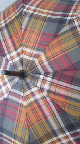 Walking-Stick Umbrella brown-cognac-coloured