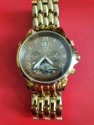 Zegarek automatyczny brąz-złoto