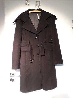 Atos Lombardini Manteau en laine noir laine