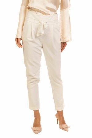 Atos Lombardini Spodnie 3/4 w kolorze białej wełny