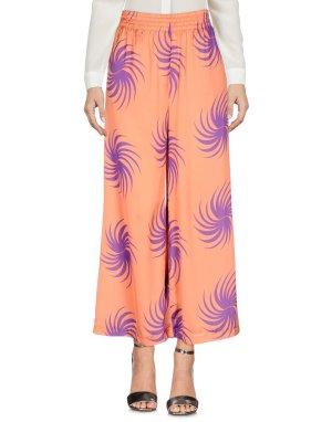 Atos Lombardini Spodnie z wysokim stanem pomarańczowy-niebiesko-fioletowy