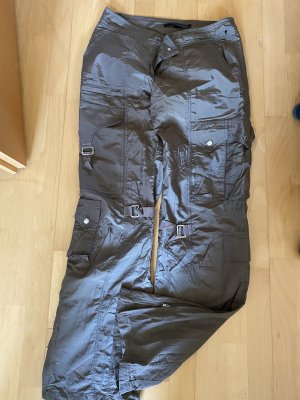 Atos Lombardini Pantalon cargo marron clair tissu mixte