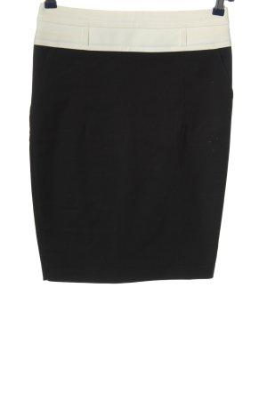 Atos Lombardini Spódnica z wysokim stanem czarny-biały W stylu biznesowym
