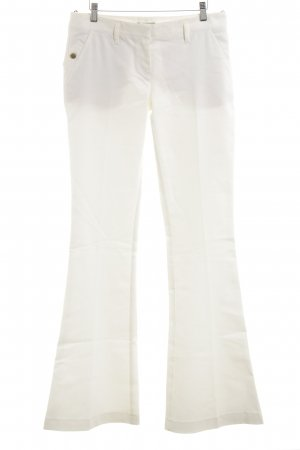 Atos Lombardini Jeans flare blanc style d'affaires