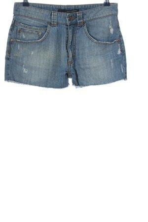 Atos Lombardini Short en jean bleu style décontracté