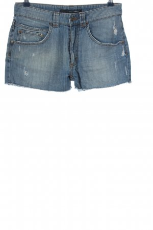 Atos Lombardini Pantaloncino di jeans blu stile casual