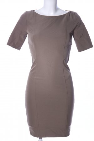 Atos Lombardini Kurzarmkleid braun Business-Look