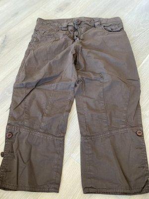 Atos Lombardini Pantalon 7/8 brun coton