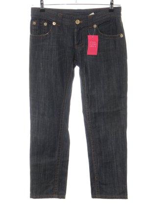 Atos Lombardini Jeans slim noir moucheté style décontracté