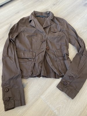 Atos Lombardini Blazer court brun coton