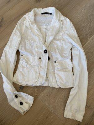 Atos Lombardini Blazer court blanc coton