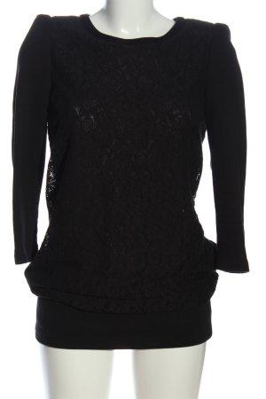 Atos Lombardini Koronkowa sukienka czarny W stylu casual