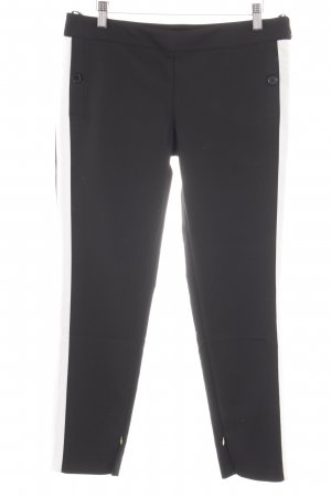 Atos Lombardini Strapped Trousers black-white striped pattern casual look
