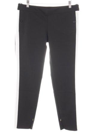 Atos Lombardini Pantalone sfoderato nero-bianco motivo a righe stile casual
