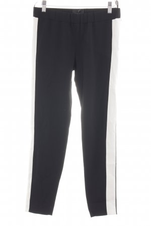 Atos Lombardini Stretch Trousers black-white casual look