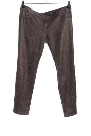 Atos Lombardini Spodnie ze stretchu brązowy W stylu casual