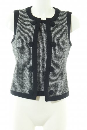 Atos Lombardini Gebreid vest zwart-wit gestreept patroon zakelijke stijl