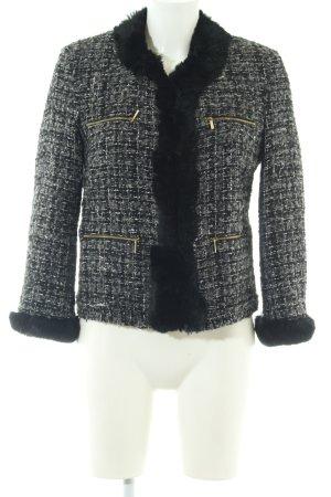 Atos Lombardini Tweed Blazer black-light grey allover print business style