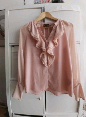 Atos Lombardini Blouse à manches longues or rose-rosé tissu mixte