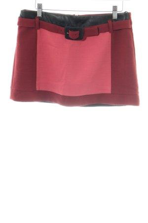 Atos Lombardini Wool Skirt red elegant