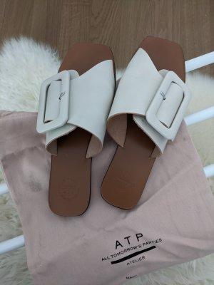ATP Atelier Ceci Ice White Sandals aus Leder Gr. 38 mit Staubbeutel und Box