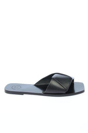 ATP Atelier Komfort-Sandalen schwarz Casual-Look