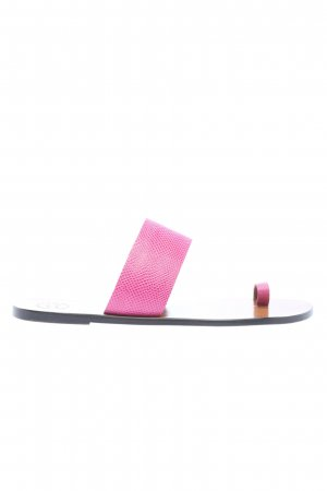 "ATP Atelier Toe-Post sandals ""Astrid Printed Watersnake Sandals"" pink"