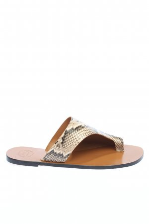 ATP Atelier Toe-Post sandals natural white animal pattern casual look