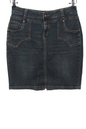 ATT Jeans Gonna di jeans blu stile casual
