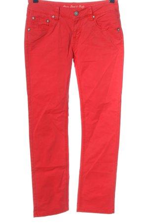 ATT Jeans Jeans met rechte pijpen rood casual uitstraling