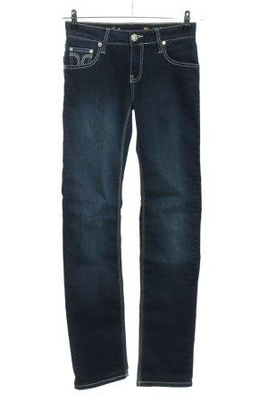 ATT Jeans Jeansy z prostymi nogawkami niebieski W stylu casual