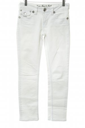 ATT Jeans Straight Leg Jeans white-silver-colored street-fashion look