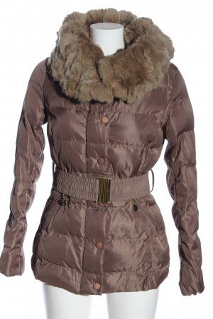 Attentif Hoody brown quilting pattern casual look