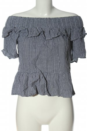Attentif Short Sleeved Blouse black-white allover print casual look