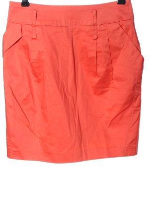 Attentif Minigonna rosso motivo a righe stile casual