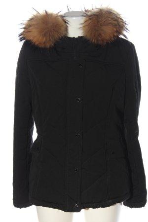 Attentif Paris Fur Jacket black casual look