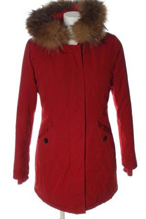 Attentif Paris Veste d'hiver rouge style décontracté