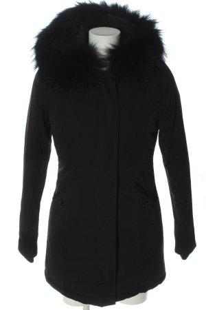 Attentif Paris Veste d'hiver noir style décontracté